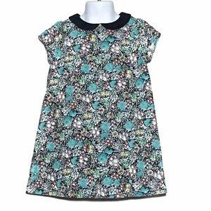 Janie And Jack Girls Floral Velvet Dress Size 3